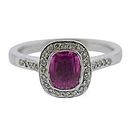 Pink Sapphire Diamond Gold Engagement Ring