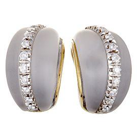 Fred Of Paris 18K White Gold Diamond Earrings