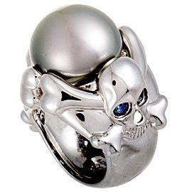 De Grisogono 18K White Gold Diamond, Cultured Pearl Ring