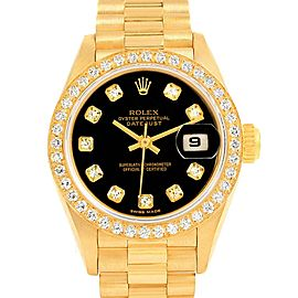 Rolex Yellow Gold Diamond Womens Watch Dial Size 26.0 Mm