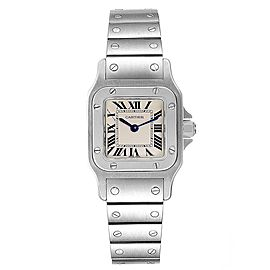 Cartier Santos Galbee Silver Roman Dial Steel Ladies Watch W20056D6