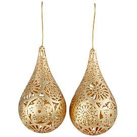 Bucherer 18K Yellow Gold Floral Teardrop Earrings