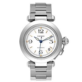 Cartier Pasha C Midsize White Dial Steel Unisex Watch W31015M7