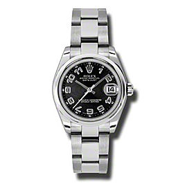 Rolex Datejust Steel Black Concentric Arabic Dial 31mm Watch