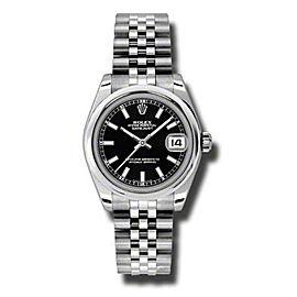 Rolex Datejust Steel Black Dial 31mm Watch