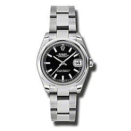 Rolex Datejust Steel Black Stick Dial 31mm Watch