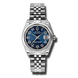 Rolex Datejust Steel Blue Concentric Circle Dial 31mm Watch