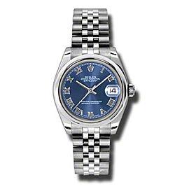 Rolex Datejust Steel Blue Roman Dial 31mm Watch