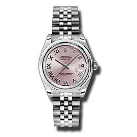 Rolex Datejust Steel Pink Roman Dial 31mm Watch