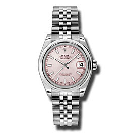 Rolex Datejust Steel Pink Stick Dial 31mm Watch