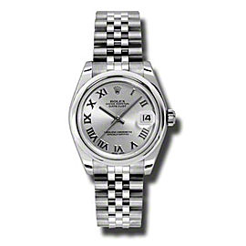 Rolex Datejust Steel Silver Roman Dial 31mm Watch