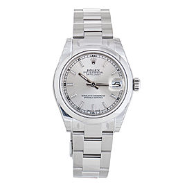 Rolex Datejust 178274SSO Stainless Steel Silver Dial 31mm Womens Watch