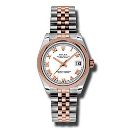 Rolex Datejust Steel and Rose Gold White Roman Dial 31mm Watch