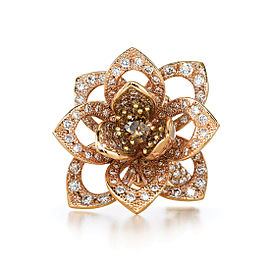 Kwiat 18k Rose Gold Fancy Ring From The Lotus Collection Size 6
