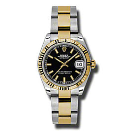 Rolex Datejust Steel and Yellow Gold Black Stick Dial 31mm Watch