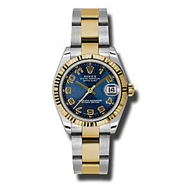 Rolex Datejust Steel and Yellow Gold Blue Concentric Arabic Dial 31mm Watch