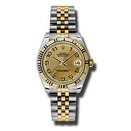 Rolex Datejust Steel and Yellow Gold Champagne Concentric Arabic Dial 31mm Watch