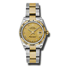 Rolex Datejust Steel and Yellow Gold Champagne Roman Dial 31mm Watch