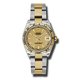 Rolex Datejust Steel and Yellow Gold Champagne Stick Dial 31mm Watch