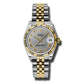 Rolex Datejust Steel and Yellow Gold Slate Grey Roman Dial 31mm Watch
