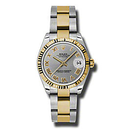 Rolex Datejust Steel and Yellow Gold Grey Roman Dial 31mm Watch