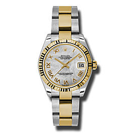 Rolex Datejust Steel and Yellow Gold Mother of Pearl Roman Dial 31mm Watch