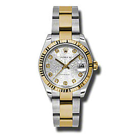 Rolex Datejust Steel and Yellow Gold Silver Jubilee Diamond Dial 31mm Watch
