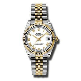 Rolex Datejust Steel and Yellow Gold White Roman Dial 31mm Watch