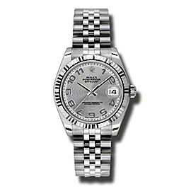 Rolex Datejust Steel and White Gold Silver Concentric Arabic Dial 31mm Watch