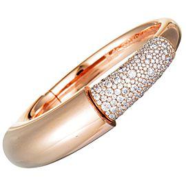 de Grisogono 18K Rose Gold Diamond Pave Bangle Bracelet. Size L