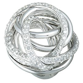 de Grisogono 18K White Gold Diamond Tangled Swirl Ring