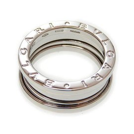 Bulgari 18K White Gold B Zero One Ring Size 5.5
