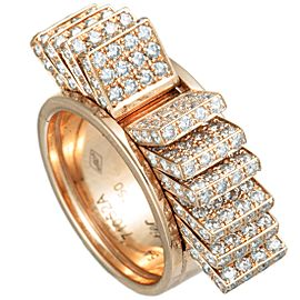 Cartier 18K Rose Gold Diamond Fan Band Ring