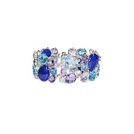 Anzie Sterling Silver Lapis, Blue Topaz, Amethyst Bracelet