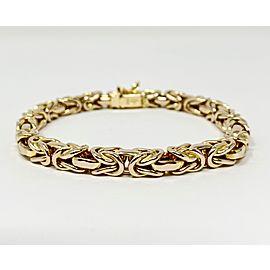 14k Yellow Gold Byzantine Link Chain Bracelet
