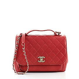 Chanel Business Affinity Flap Bag Quilted Caviar Large