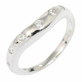 BVLGARI BULGARI Platinum Diamond Corona Ring CHAT-15