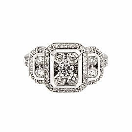 14K White Gold with 2.5ct Diamonds Engagement Ring Size 7