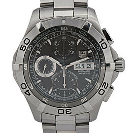 TAG HEUER Stainless Steel Aqua racer Chronograph Watch