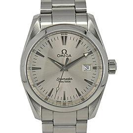 OMEGA SeamasterAqua Terra 2518.3 Silver Dial SS Date Quartz Men's Watch