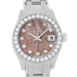Rolex Pearlmaster Masterpiece White Gold MOP Diamond Ladies Watch 80299