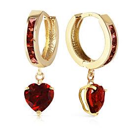 4.1 CTW 14K Solid Gold Sicily Garnet Earrings
