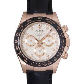 Rolex Daytona 116515 Rose Gold Ivory Dial Ceramic Mens Watch