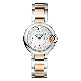 Cartier Ballon Bleu WE902030 Stainless Steel & Rose Gold Watch