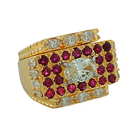 David Webb Ruby Yellow Gold Ring