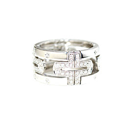 Bulgari Parentesi 18k White Gold With Diamonds Ring