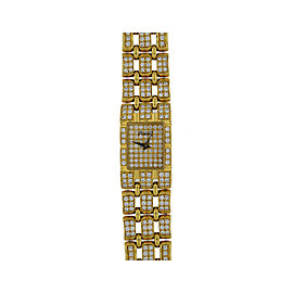 Piaget 18 K Yellow Gold With Diamonds Diamond Bracelet Watch