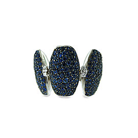 De Grisogono 18k White Gold Sapphire & Diamonds Ring