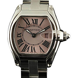 Cartier Roadster W62017V3 Small Stainless Steel Pink Watch