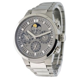 IWC GST Perpetual Calendar Moonphase Stainless Steel Mens Watch 44mm
